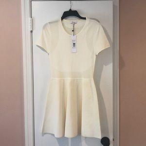Parker Trace Knit dress in ivory